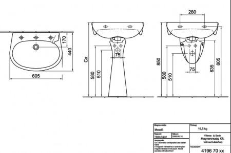 alföldi bázis mosdó 60 x 44 Alföldi Bázis Mosdó 60 x 44 cm   Némedi Víz Gáz webshop alföldi bázis mosdó 60 x 44