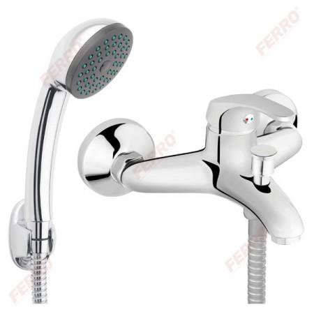 Ferro Basic fali kádcsaptelep zuhanyszettel