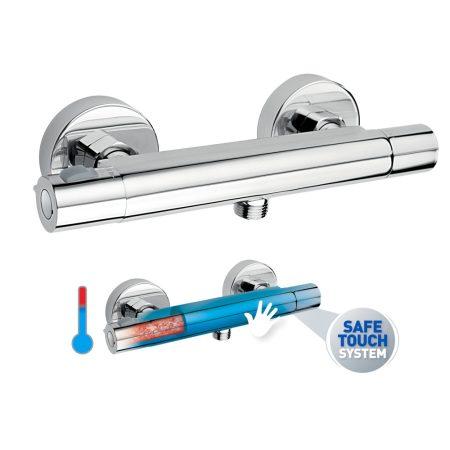 Ferro TRINITY termosztatikus fali zuhanycsaptelep