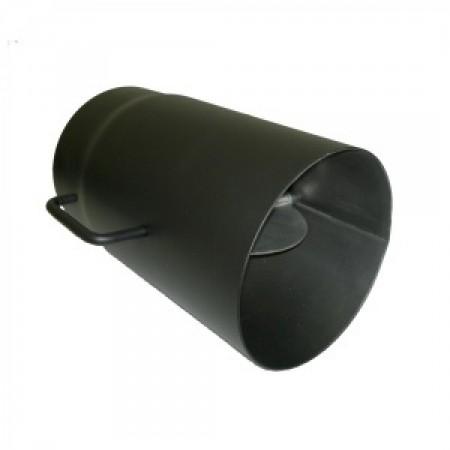 Fekete füstcső  120/250 mm huzatszabályozós