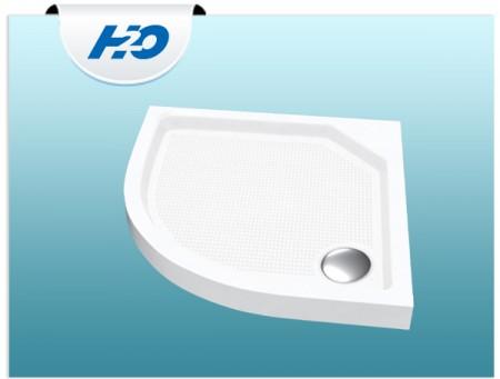 H2O Zénó Slim íves zuhanytálca szifonnal