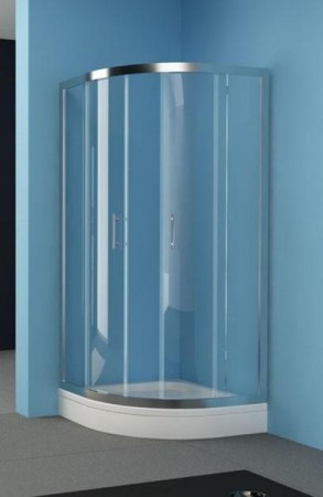 Kolpa-San Q-Line TKP íves zuhanykabin 100x100 silver kerettel
