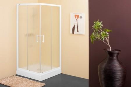 Kolpa-San Q-Line TKK szögletes zuhanykabin 80x80 fehér kerettel