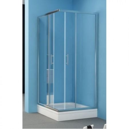 Kolpa-San Q-Line TKK szögletes zuhanykabin 80x80 silver kerettel
