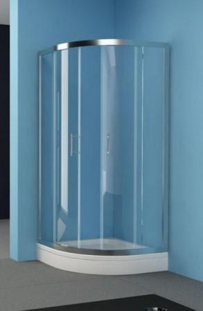 Kolpa-San Q-Line TKP íves zuhanykabin 80x80 silver kerettel