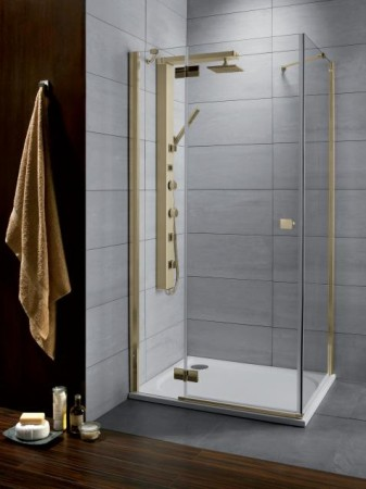 Radaway Almatea KDJ Gold szögletes zuhanykabin