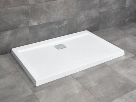 Radaway Argos D szögletes asszimetrikus zuhanytálca lapos
