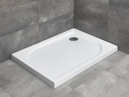 Radaway Delos D szögletes asszimetrikus zuhanytálca lapos