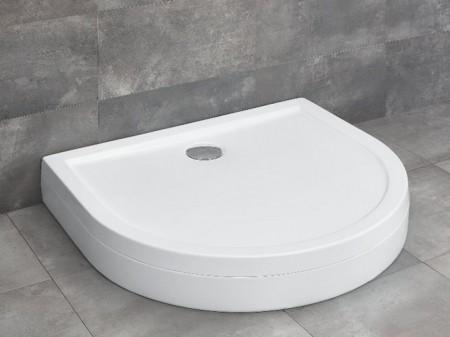 Radaway Delos P U-alakú zuhanytálca lábbal