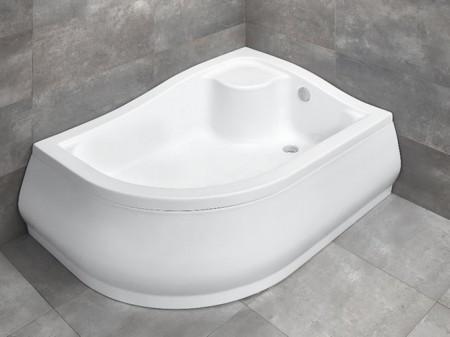 Radaway Korfu E íves asszimetrikus zuhanytálca