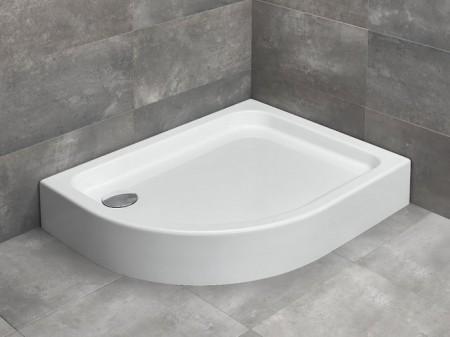 Radaway Laros E íves asszimetrikus zuhanytálca