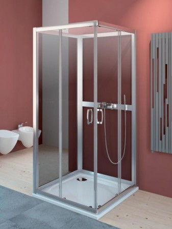 Radaway Premium Plus C+2S szögletes zuhanykabin hátfallal